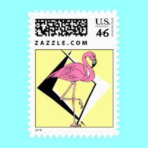 retro 1950s style flamingo