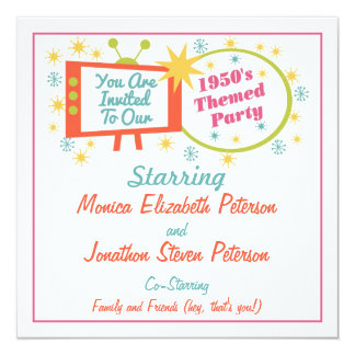 Retro 1950's Themed Party Invitation