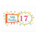 Retro 1950's Themed Table Number Cards Postcard