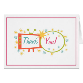 Retro 1950's Themed Thank You Card