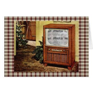 Retro 1950s TV Photo Greeting Card