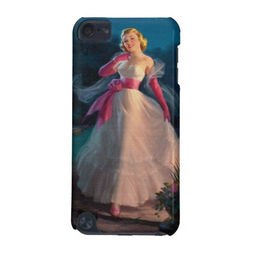 Retro 1950s Woman During Evening iPod Touch (5th Generation) Cases