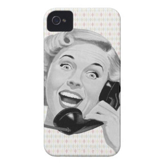 Retro 1950s Woman on Phone iPhone 4 Cover