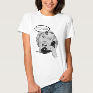 Retro 1950s Woman on Phone Tee Shirt