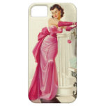 Retro 1950s Woman With Roses iPhone 5 Cases