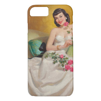 Retro 1950s Woman With Roses iPhone 8/7 Case