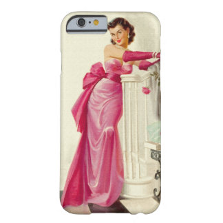 Retro 1950s Woman With Roses iPhone 6 Case