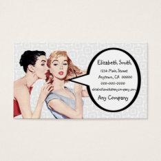 Retro 1950s Women Gossipers Business Card at Zazzle