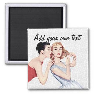 Retro 1950s Women Gossipers Magnets