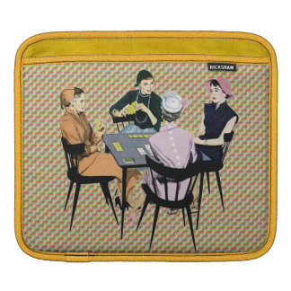 Retro 1950s Women Playing Cards iPad Sleeves