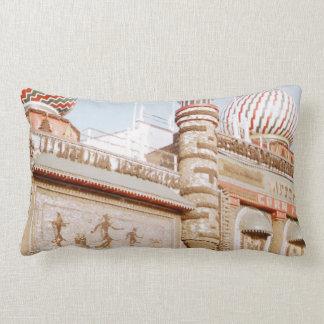 Retro 1955 Mitchell Corn Palace South Dakota Decor Lumbar Pillow