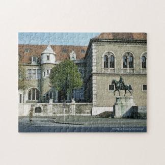 Retro 1960 Street Scene Munich Germany Puzzle