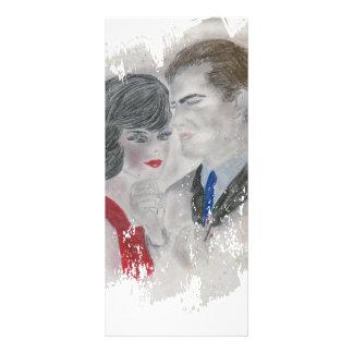 Retro 1960s Couple Splash Rack Card