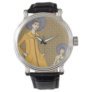 Retro 1960s Fashion Wrist Watches
