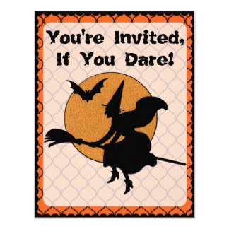 Retro 1960s Halloween Party Card