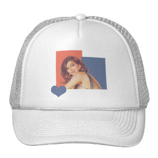 Retro 1960s Love Trucker Hat