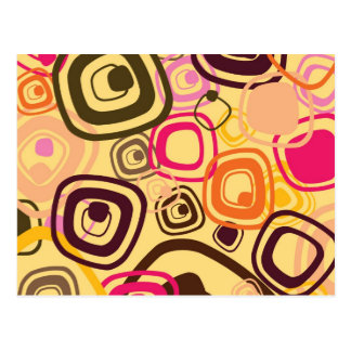 Retro 1960's Patterned Postcard