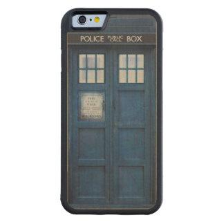 Retro 1960s Police Call Box Design Carved® Maple iPhone 6 Bumper Case