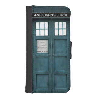 Retro 1960s Style London Police Phone Box iPhone SE/5/5s Wallet