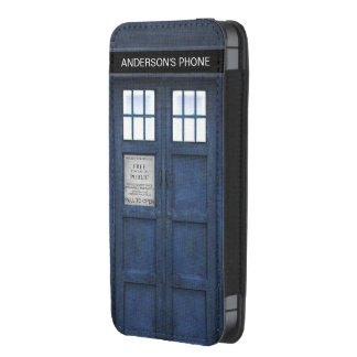 Retro 1960s Style London Police Phone Call Box iPhone 5 Pouch