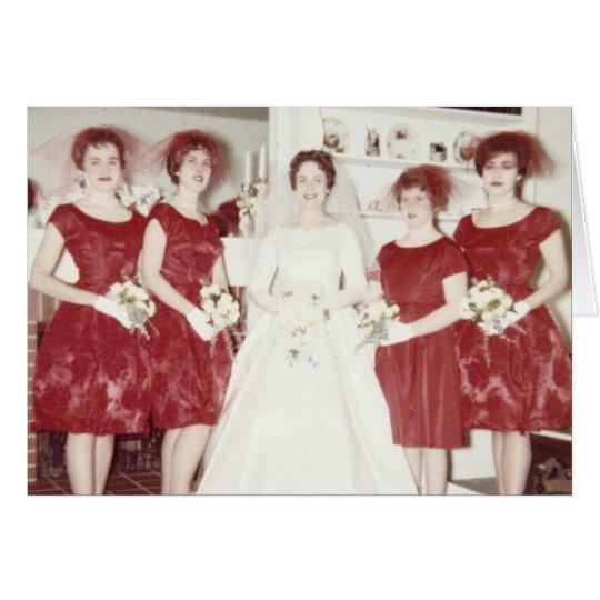 Retro 1960s Wedding Card