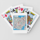 Retro 1966 Ohio map Bicycle Playing Cards