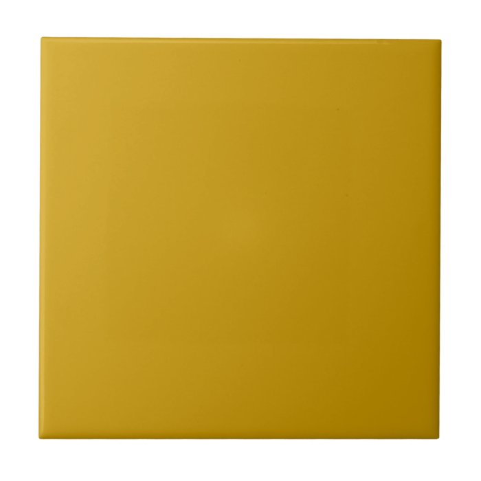 Retro 1970's era Deep Harvest Gold vintage Square Ceramic Tile
