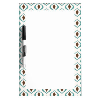Retro 1970's Geometric Pattern in Brown and Green Dry-Erase Board