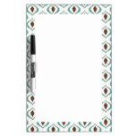 Retro 1970's Geometric Pattern in Brown and Green Dry-Erase Boards