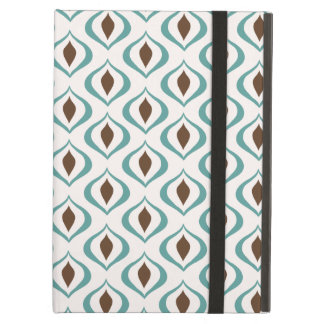 Retro 1970's Geometric Pattern in Brown and Green iPad Cases