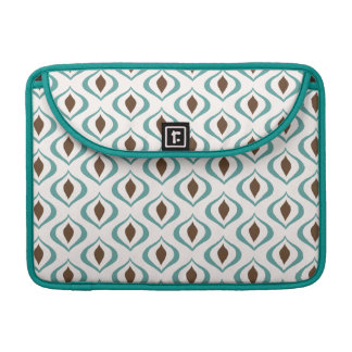 Retro 1970's Geometric Pattern in Brown and Green Sleeves For MacBook Pro