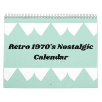 Retro 1970's Nostalgic Calendar