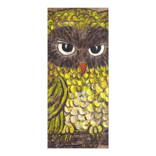 Retro 1970s Owl Card