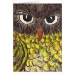 Retro 1970s Owl Greeting Card