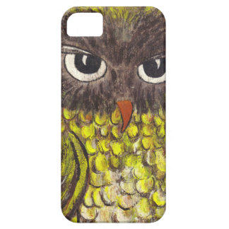 Retro 1970s Painted Owl iPhone SE/5/5s Case