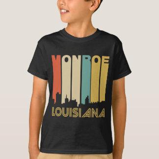 Retro 1970's Style Monroe Louisiana Skyline T-Shirt