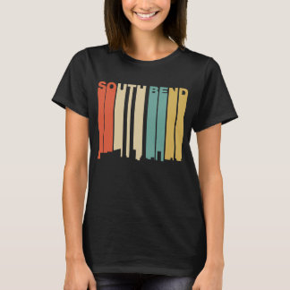 Retro 1970's Style South Bend Indiana Skyline T-Shirt
