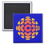 Retro 1974-1986 2 inch square magnet