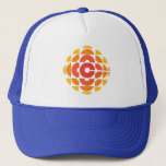 "Retro 1974-1986 trucker hat<br><div class=""desc"">Created by Burton Kramer, a designer and artist whose work is featured as part of the permanent collection at the Smithsonian Institute. Sometimes called the exploding pizza or pineapple, Burton Kramer&#39;s modernist logo features the letter &quot;C&quot; for Canada at its core. According to the CBC&#39;s 1974 corporate manual, &quot;the overall...</div>"