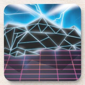 Retro 1980s video game graphic coaster