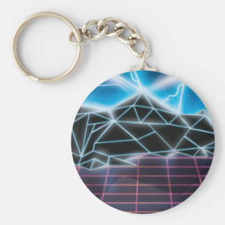 Retro 1980s video game graphic keychain