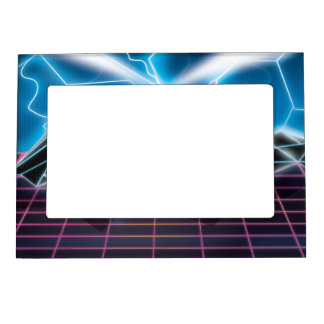 Retro 1980s video game graphic magnetic photo frame