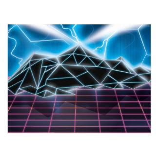 Retro 1980s video game graphic postcards