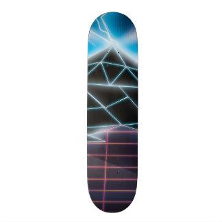 Retro 1980s video game graphic skateboard deck
