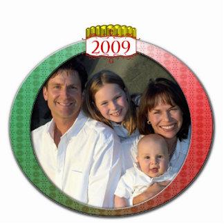 Retro 2009 Family Photo Christmas Ornament