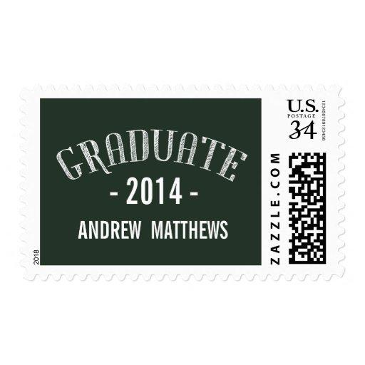 Retro   2014 Graduation Postage Stamp