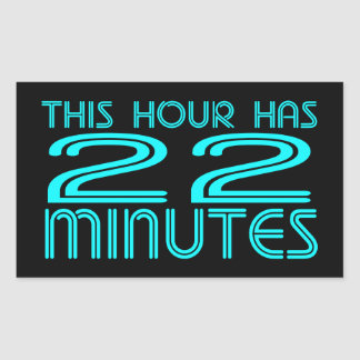 Retro - 22 Minutes Rectangular Sticker