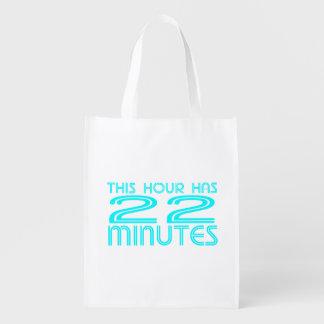Retro - 22 Minutes Reusable Grocery Bag