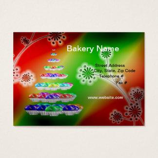 "Retro 3.5"" x 2"" (Chubby) Bakery/Cupcakes Business  Business Card"
