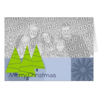 Retro 3 Trees Ornament -Merry Christmas Greeting Cards